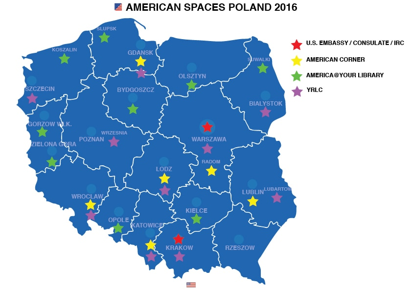 American Spaces US Embassy Consulate In Poland - Poland us map