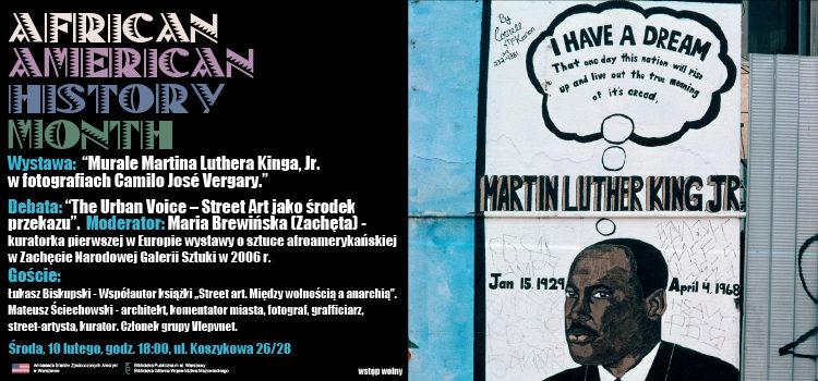 """AAHM na Koszykowej: Wystawa """"Murale MLK"""""""