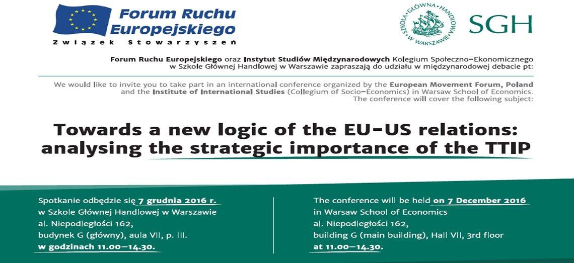 Rokowania Ttip Zaproszenie Na Międzynarodową Debatę Ekspertów Ue I