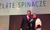 Esther Ritson–Elliott, European Marketing Director, California Prune Board (Europe) i Michał Kopera, People PR podczas gali Złote Spinacze 2016.