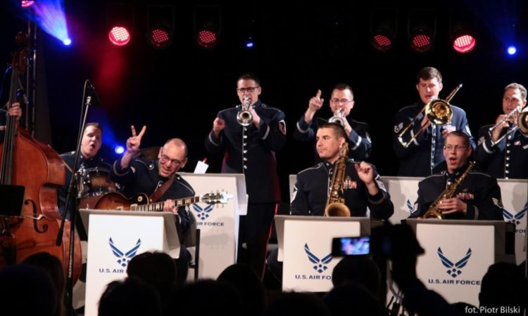 The Jazz Ambassadors of the USAFE Band Perform in Grudziądz, Poland (photo by Piotr Bilski from Gazeta Pomorska)