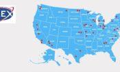 Miejsca w USA, w których mieszkają obecnie polscy licealiści w ramach programu FLEX.