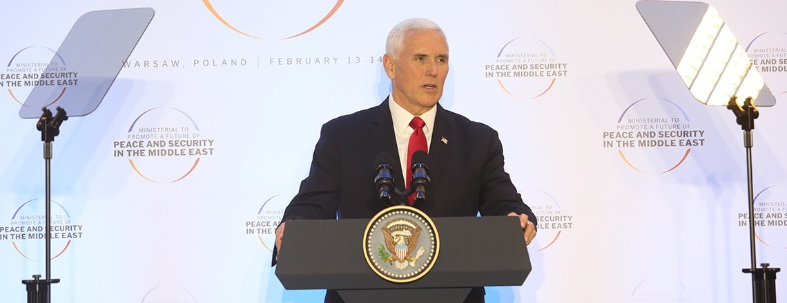 Remarks by Vice President Pence at the Warsaw Ministerial Working Luncheon